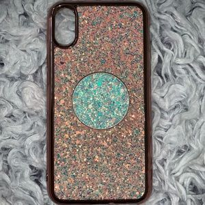 iPhone X/XS phone case - Pink Sparkly
